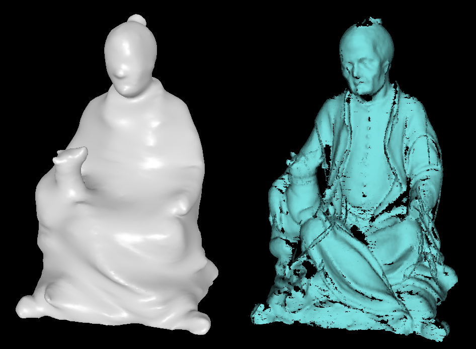 Starting Surface (left) and Point Cloud (right)